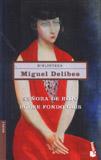Miguel Delibes. Señora de rojo sobre fondo gris